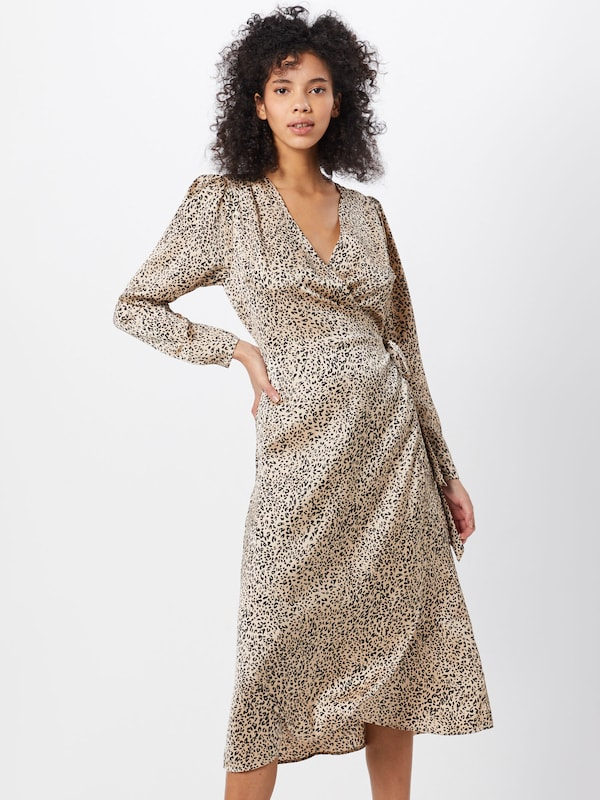Neo Noir Robe 'Adda New Leo Dress' en beige: Vue de face