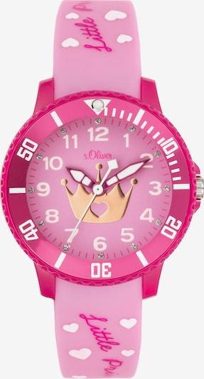 s.Oliver Uhr in pink / hellpink, Produktansicht