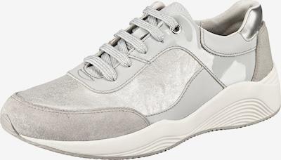 GEOX Sneaker 'Omaya C' in hellgrau / silber / perlweiß, Produktansicht