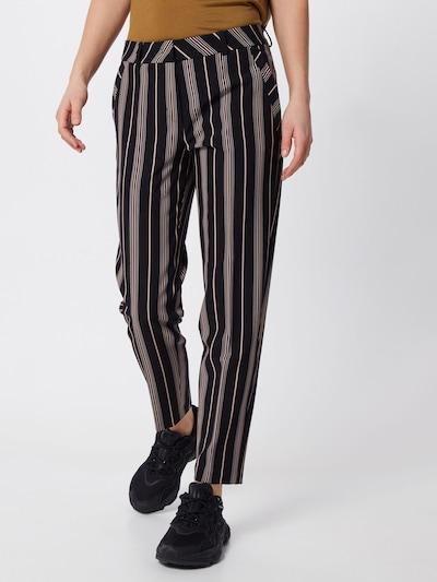 s.Oliver BLACK LABEL Pantalon en noisette / noir, Vue avec modèle