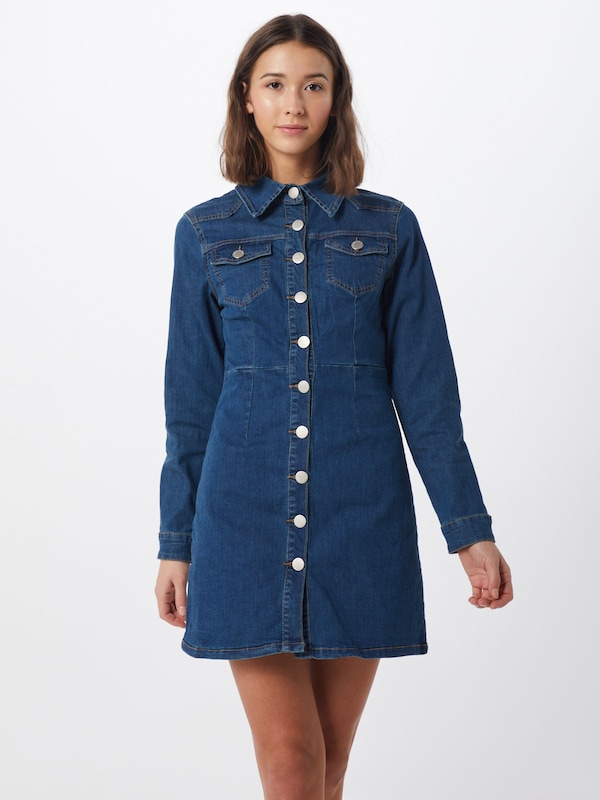 GLAMOROUS Kleid in blue denim, Modelansicht