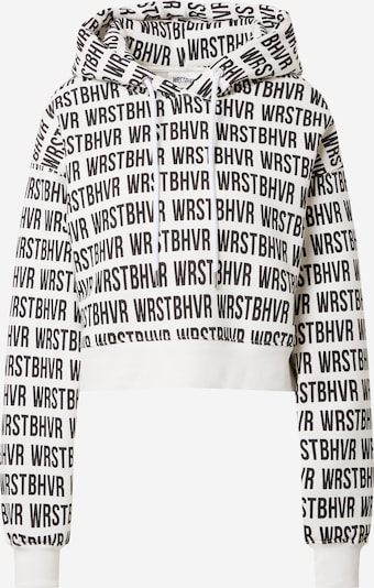 Worst Behavior Sweatshirt in schwarz / weiß, Produktansicht