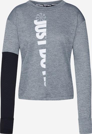 NIKE Sportshirt 'Therma Sphere' in grau / schwarz / weiß, Produktansicht