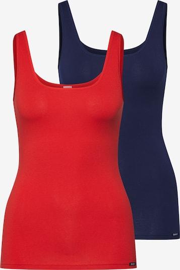 Skiny Unterhemd 'Advantage Cotton' in blau / rot, Produktansicht