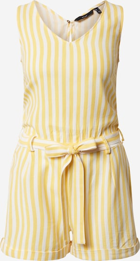VERO MODA Jumpsuit 'VMHELENMILO SL PLAYSUIT STRIPE WVN' in Yellow / White, Item view