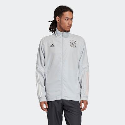 ADIDAS PERFORMANCE Sportjas in de kleur Lichtgrijs / Koraal / Zwart / Wit: Vooraanzicht