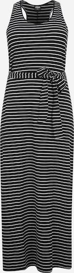 Urban Classics Curvy Kleid in schwarz / weiß, Produktansicht