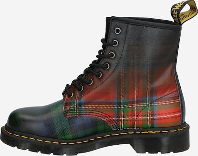 Suvarstomieji kulkšnis dengiantys batai '1460 Tartan' iš Dr. Martens , spalva - žalia / raudona / juoda: Vaizdas iš šono