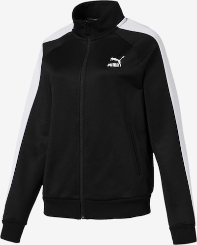 PUMA Trainingsjacke 'Classics T7 PT' in schwarz / weiß, Produktansicht