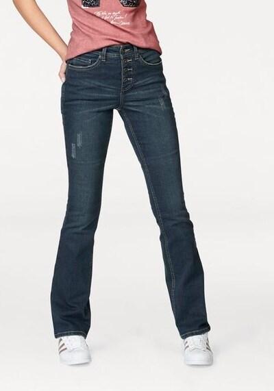 ARIZONA Bootcut-Jeans in dunkelblau, Produktansicht