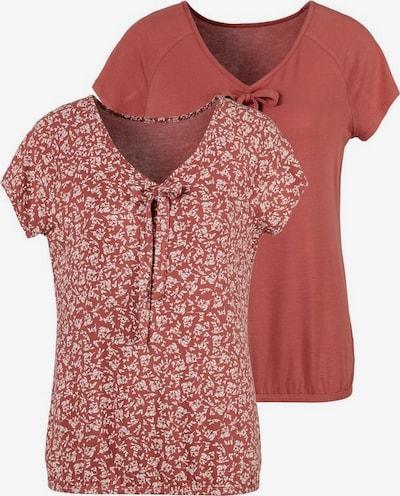 LASCANA Shirt in de kleur Roestrood / Wit, Productweergave