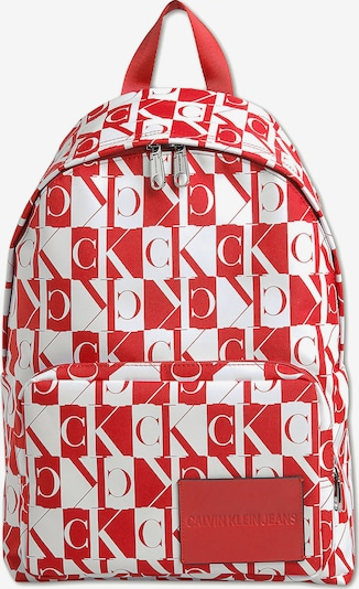 Calvin Klein Jeans Rucksack in rot / weiß, Produktansicht