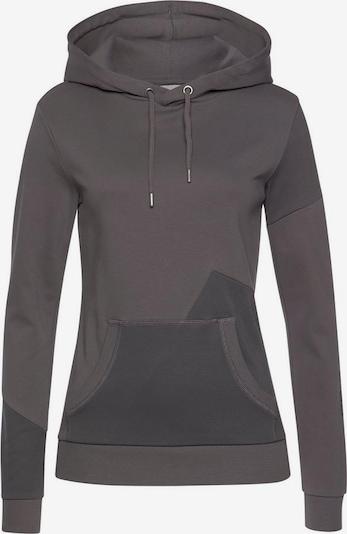 BENCH Sweatshirt in stone / dunkelgrau, Produktansicht