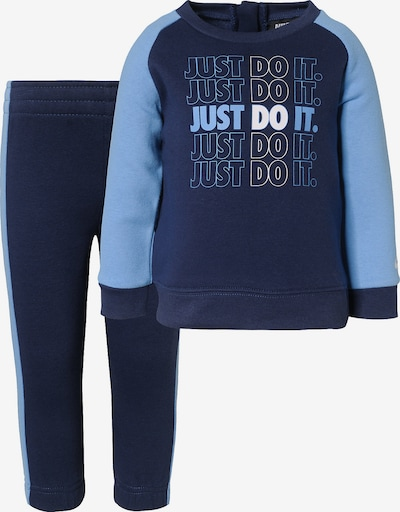 Nike Sportswear Jogginganzug in rauchblau / dunkelblau, Produktansicht