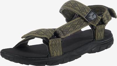 JACK WOLFSKIN Sandalen in oliv / schwarz, Produktansicht