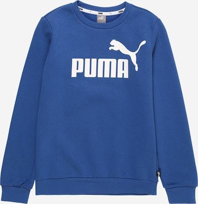 PUMA Sweat de sport en bleu / blanc, Vue avec produit