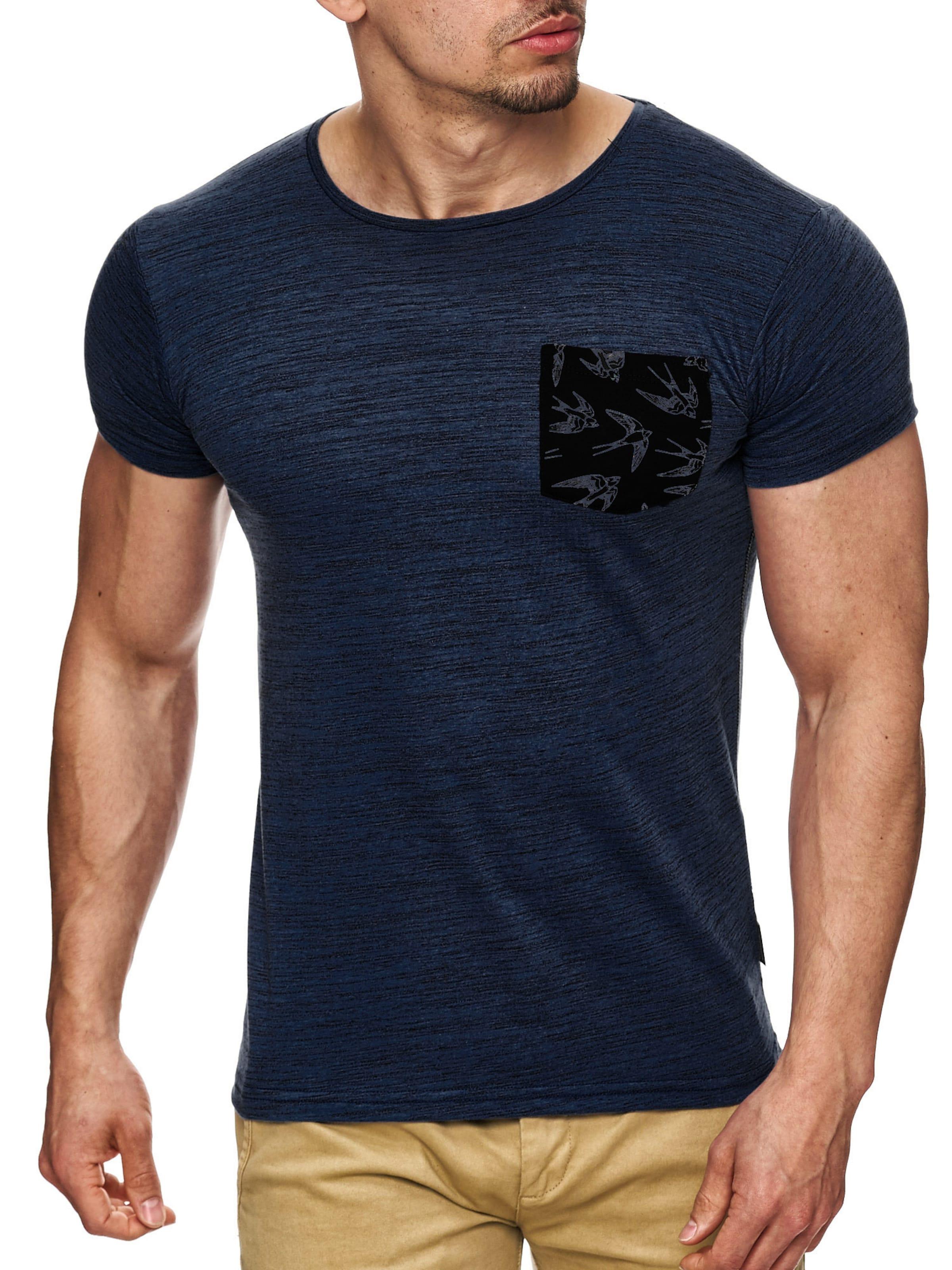 shirt KobaltblauSchwarz 'blaine' Indicode In T Jeans Ovnm8wN0
