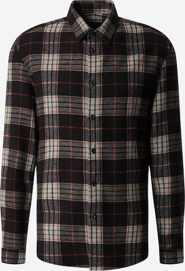 DRYKORN Hemd 'RUBEN' in rot / schwarz / weiß, Produktansicht