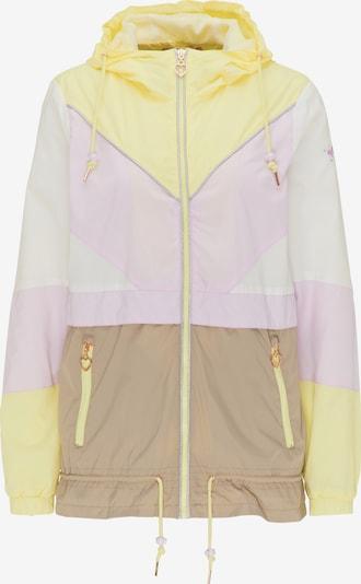 MYMO Windbreaker in braun / gelb / rosa / weiß, Produktansicht