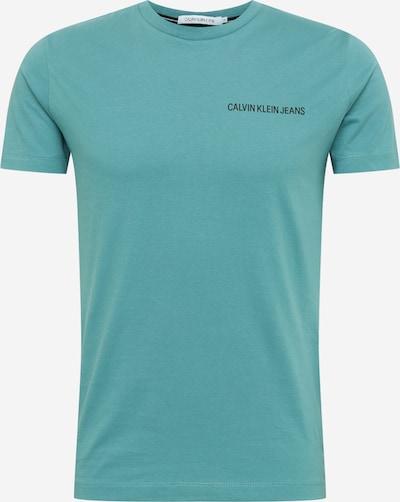 Calvin Klein Jeans T-Shirts 'Institutional' in hellgrün / black denim, Produktansicht