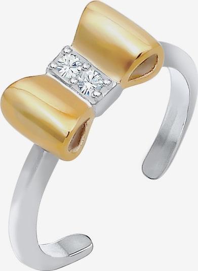ELLI Ring 'Schleife' in gold / silber, Produktansicht