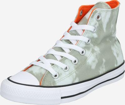 CONVERSE Augstie apavi 'CHUCK TAYLOR ALL STAR - HI' pieejami pelēks / oranžsarkans / balts, Preces skats