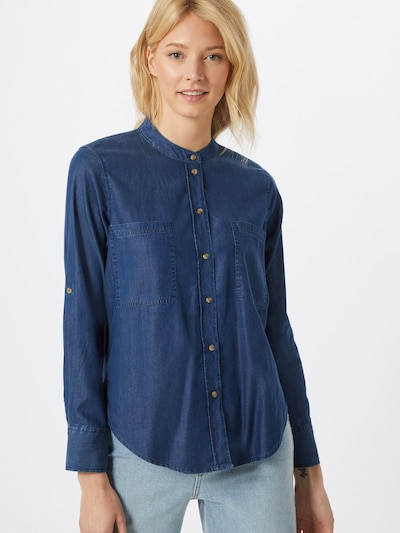 TOM TAILOR Bluse in blue denim, Modelansicht