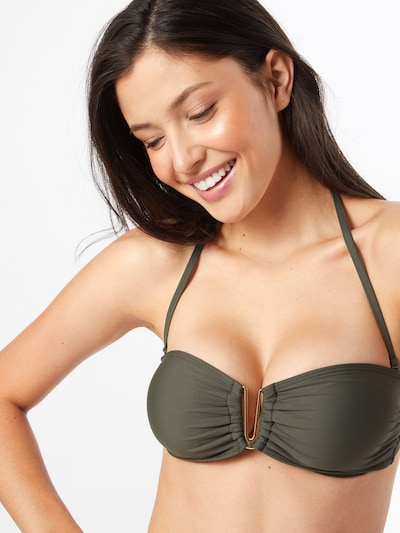 ABOUT YOU Bikini Top 'Melanie' in khaki, Modelansicht