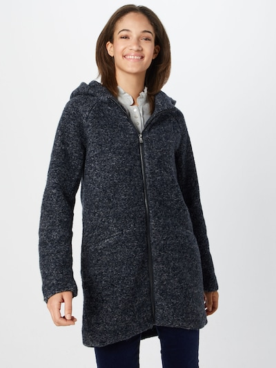 ONLY Mantel 'onlALLIE CELESTE HOODED WOOL COAT OTW' in nachtblau, Modelansicht