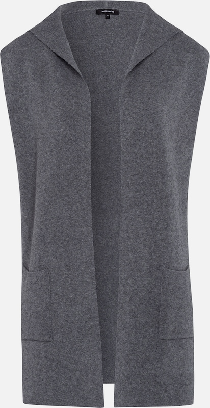 More & More Hooded Vest, Gray