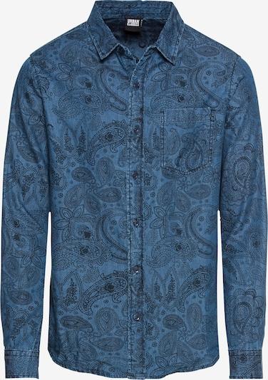 Urban Classics Jeanshemd in blue denim / schwarz, Produktansicht