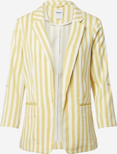 ONLY Blazer 'ONLROSE-EVETTE' in gelb / offwhite, Produktansicht