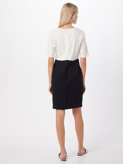 heine Sukienka etui w kolorze czarny / białym: Widok od tyłu