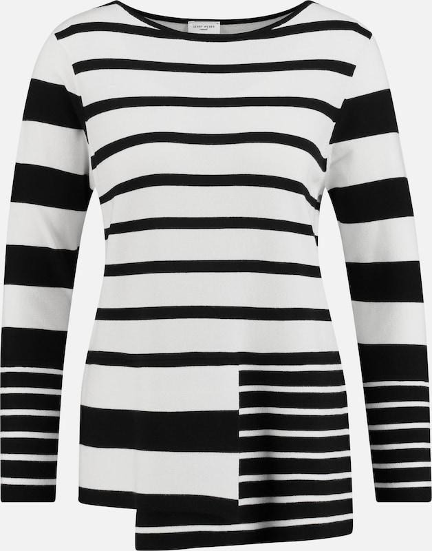 GERRY WEBER Pullover in schwarz     weiß  Freizeit, schlank, schlank 212372