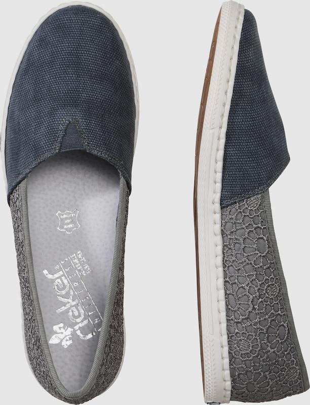 RIEKER Slipper im Jeans-Look
