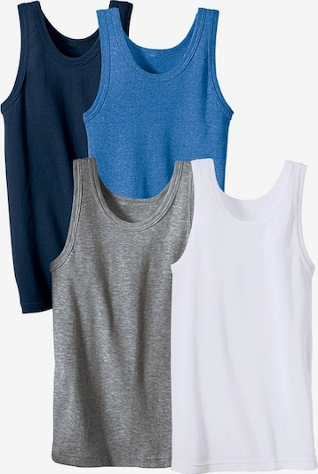Maier Sports Unterhemden in blau / grau / weiß, Produktansicht