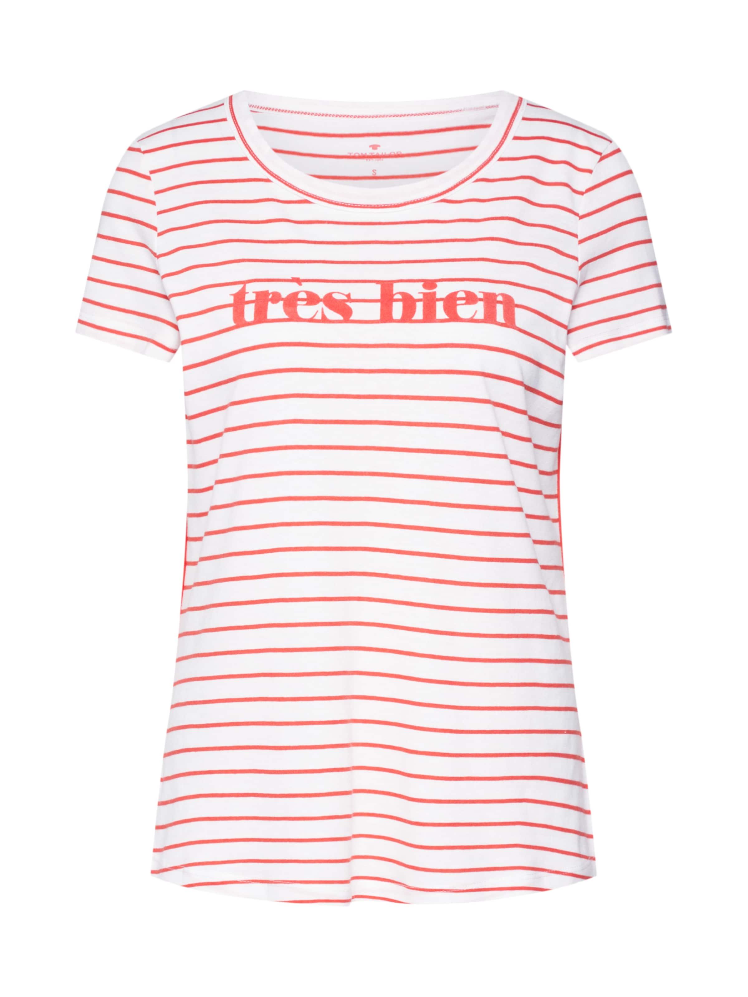 T OrangeWeiß shirt Tom Tailor In O8kXNwPZn0