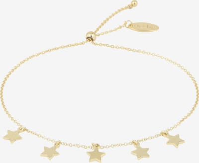 Orelia Armband 'Star Charm Drop Slider' in gold, Produktansicht