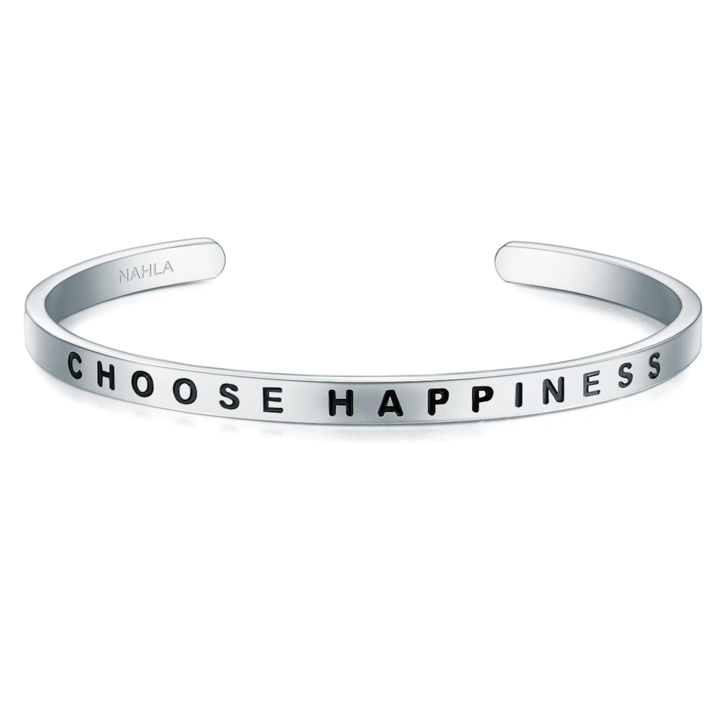Kaufen Sie Ihre Lieblings Billig Empfehlen Nahla Jewels Armband mit Schriftzug CHOOSE HAPPINESS c2Gqv0I
