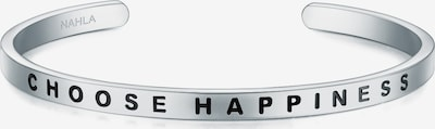 Nahla Jewels Armband mit Schriftzug CHOOSE HAPPINESS in silber, Produktansicht