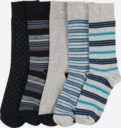 Kojinės '5 Pack Blue Stripe Socks' iš BURTON MENSWEAR LONDON , spalva - mėlyna, Prekių apžvalga