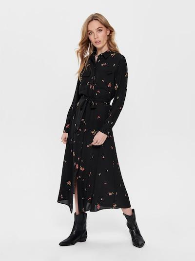 ONLY Blusenkleid 'ONLADIE LIFE L/S MIDI SHIRT DRESS WVN' in schwarz, Modelansicht