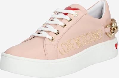rózsaszín / fehér Love Moschino Rövid szárú edzőcipők 'JA1552', Termék nézet