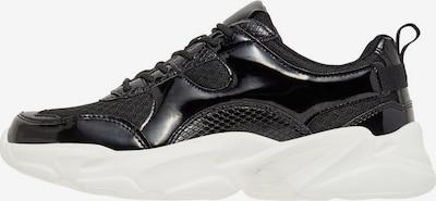 Bianco Schlangenhautprint Chunky Sneaker in schwarz, Produktansicht