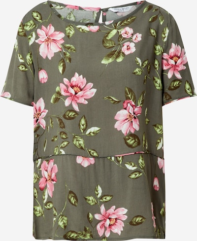 ZABAIONE Bluza 'June' u kaki / travnato zelena / roza / bijela, Pregled proizvoda