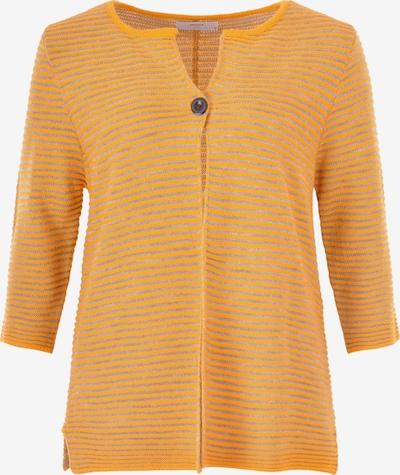 Navigazione Strickjacke in hellgrau / orange, Produktansicht
