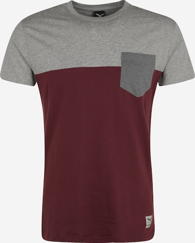 Iriedaily Koszulka w kolorze nakrapiany szary / merlotm, Podgląd produktu