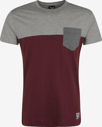 Iriedaily T-Shirt in graumeliert / merlot, Produktansicht