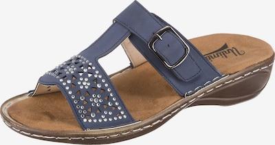 Freyling Pantolette in taubenblau, Produktansicht