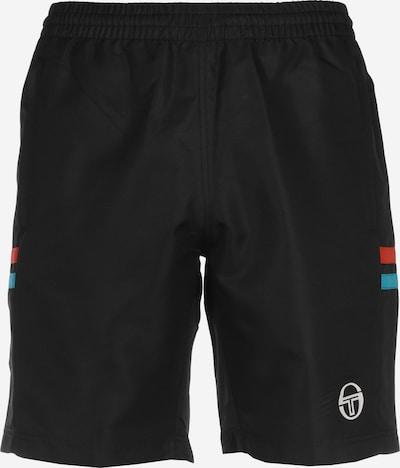 Sergio Tacchini Sportbroek 'Futani' in de kleur Turquoise / Oranjerood / Zwart, Productweergave